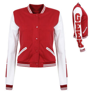 View Item Red GEEK Baseball Jacket